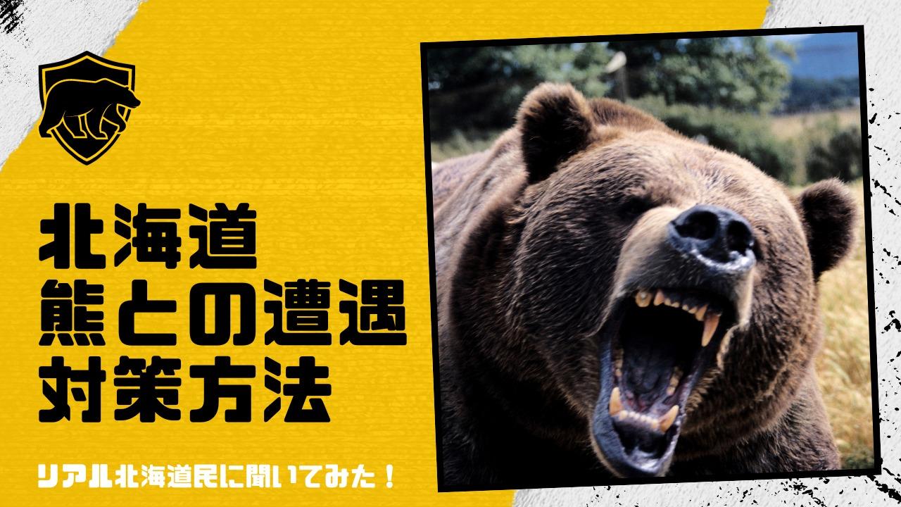 北海道の熊との遭遇を防ぐ対策